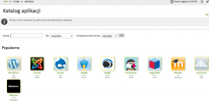 Katalog aplikacji