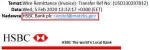 fałszywy email