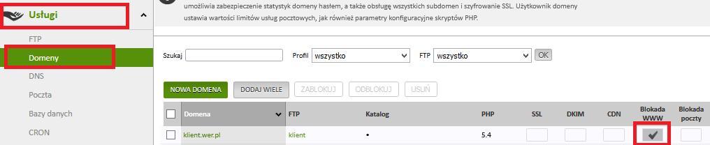 blokada www