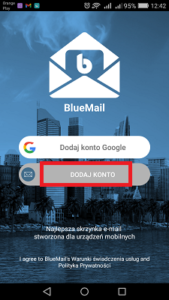 bluemail dodaj konto
