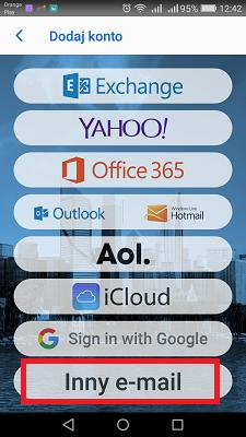 Bluemail wybieramy inny e-mail