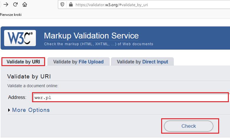validate by URI