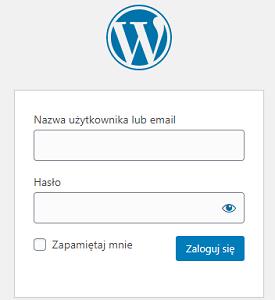 logowanie WordPress